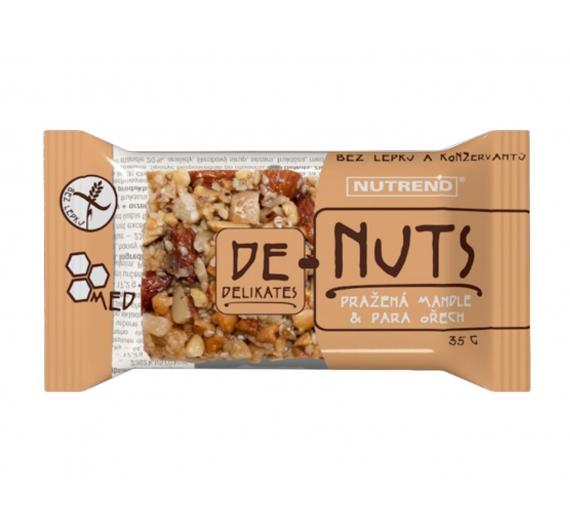 DeNuts tyčinka pražená mandle a para ořechy