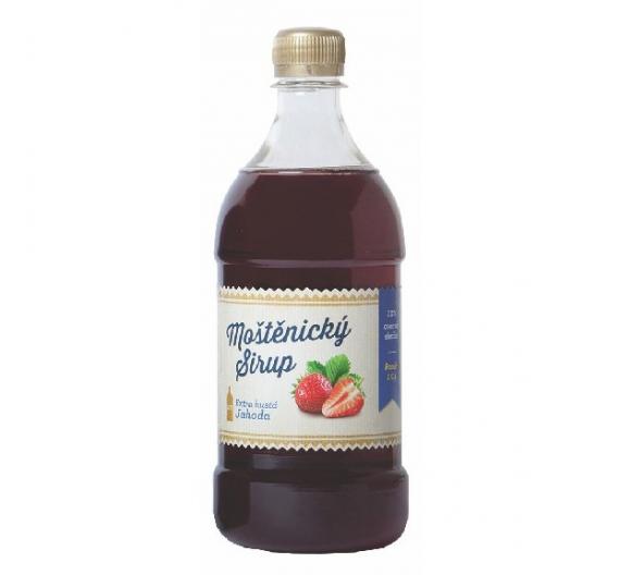 Sirup Moštěnický 0,7l - jahoda