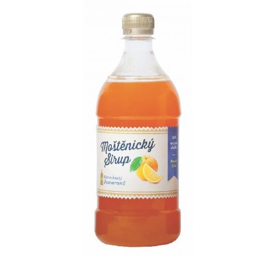 Sirup Moštěnický 0,7l - pomeranč