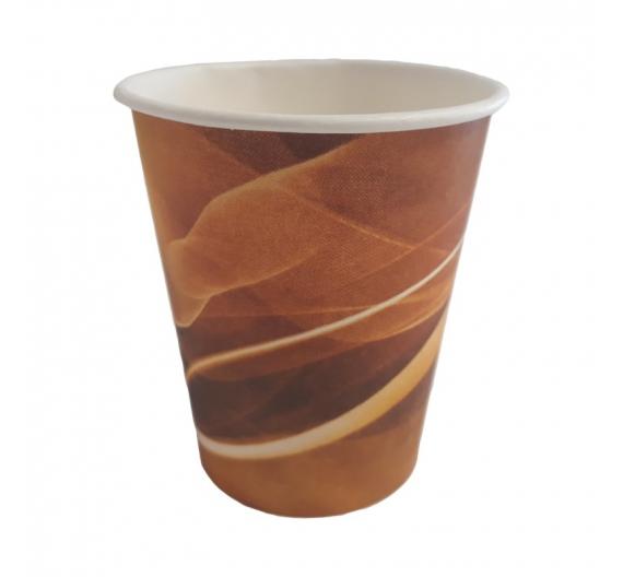 Kelímek papírový pevný 150 ml – hnědý