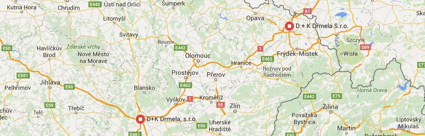 mapa dk drmela